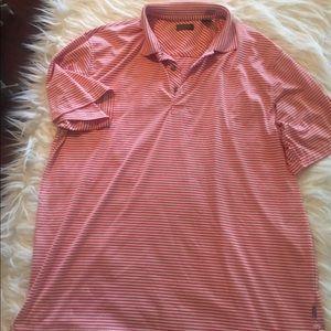 Men's Izod XL Orange and White Polo